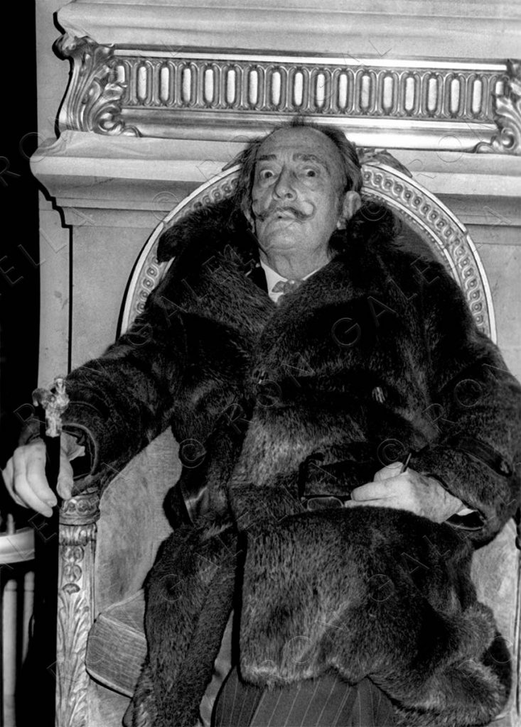 NEW YORK CITY - FEBRUARY 19:  Salvador Dali sighted on February 19, 1973 at the St. Regis Hotel in New York City. (Photo by Ron Galella/WireImage)