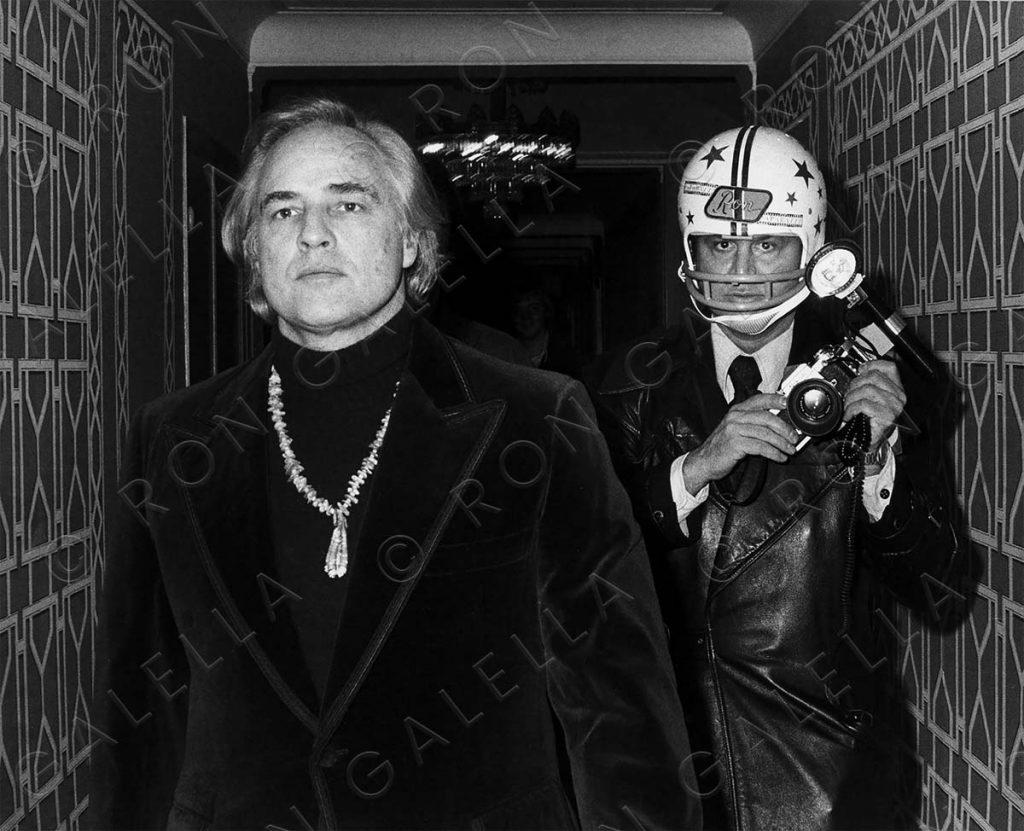 Marlon Brando and Ron Galella